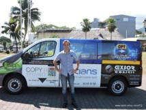 Nicolas Jamme, de la société Utilcom s'est occupé d'acheter le bus et de le faire financer par les annonceurs.