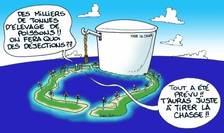 """""""50 000 tonnes de poissons, quid des déjections?"""" par Munoz"""