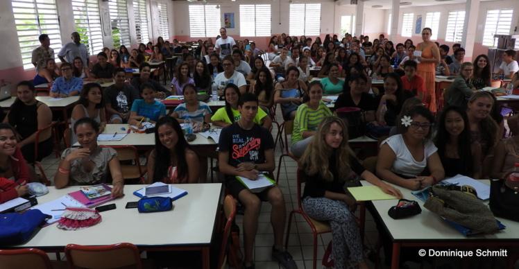 Les élèves sont venus nombreux au lycée Paul Gauguin pour suivre le premier jour de formation au concours d'entrée des IEP.