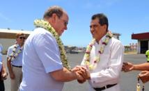 Le président Fritch accueille le Prince Albert de Monaco
