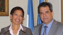 La ministre des Outre-mer et le président polynésien Edouard Fritch en octobre 2014 au ministère des Outre-mer (Photo Présidence de la Polynésie).