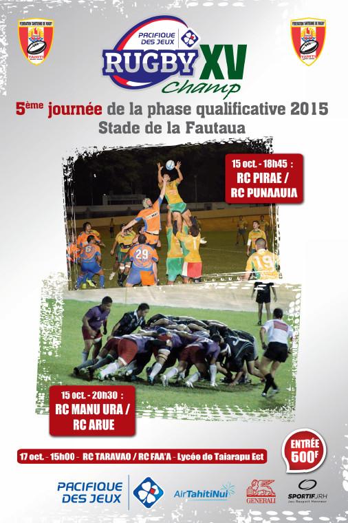 Rugby « chpt à XV J4 » : Faa'a atomise RC Punaauia et RC Pirae domine Manu Ura