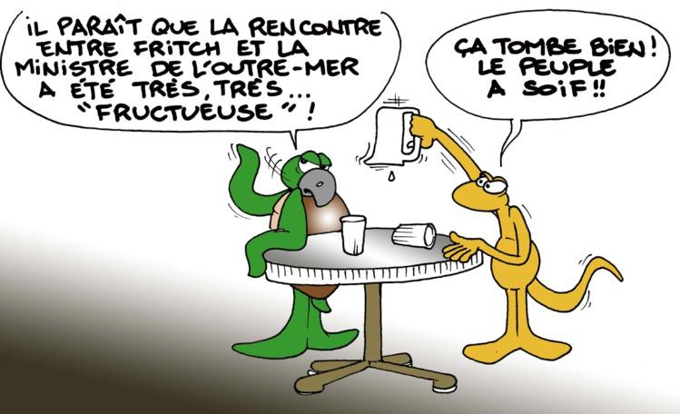 """""""La rencontre Fritch-GPL"""" par Munoz"""