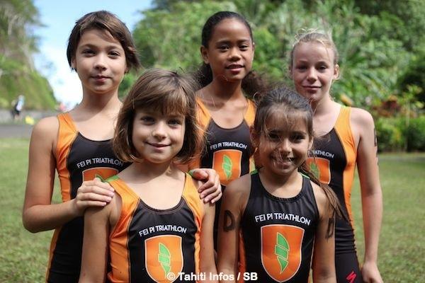Les enfants avaient également leur course, un aquathlon.