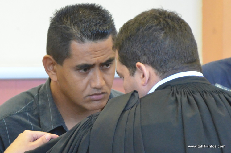 Arihano Haiti, le 16 mai 2014 lors de son procès devant la cour d'assises de Papeete
