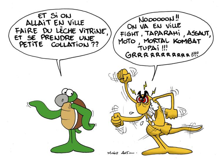 """""""Violences à Papeete"""" par Munoz"""