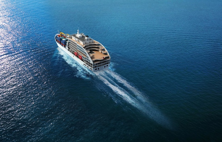 Le cargo mixte de luxe Aranui 5 est en route vers Tahiti