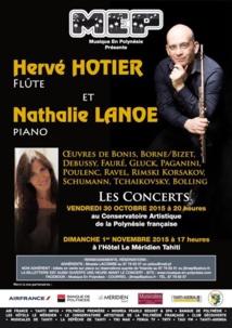 Hervé Hotier et Nathalie Lanoë : un duo flûte/piano pour deux concerts