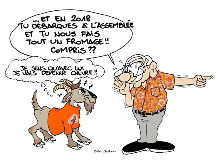 """""""Une chèvre dans un bureau de vote"""" par Munoz"""