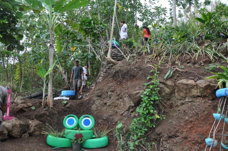 Une quinzaine de familles vivent sur les hauteurs de Punavai et grâce à ce nouveau dispositif, elles pourront récolter le fruit de leur labeur