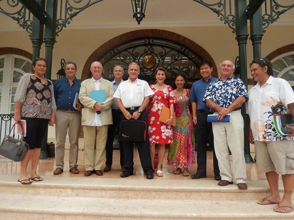 La délégation reçue par Edouard Fritch lundi après-midi