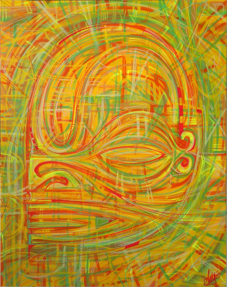 L'artiste dévoile de nouvelles peintures très lumineuses.