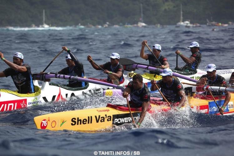 Shell Va'a à la lutte avec Hinaraurea