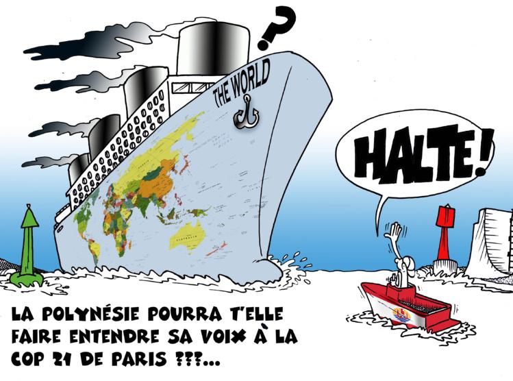 """""""La voix de la Polynésie au COP 21"""" par Munoz"""