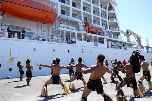 L'accueil de l'Aranui 5 a été organisé par la CODIM et le GIE Tahiti Tourisme.