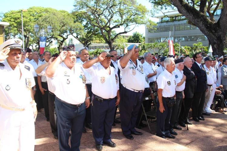 La cérémonie militaire a eu lieu à 8 h 30.
