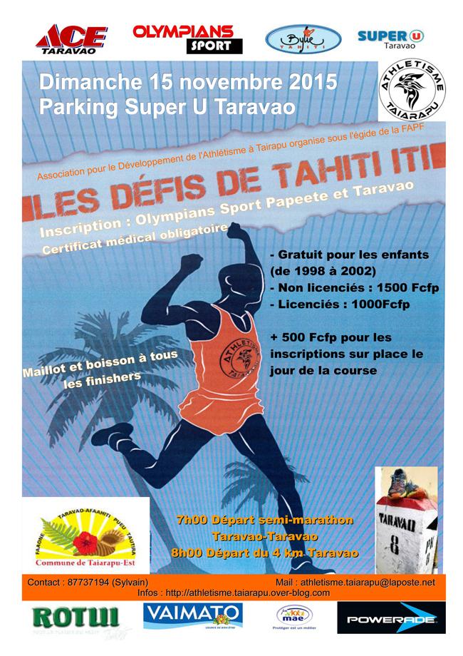 Course à pied : les défis de Tahiti Iti ce dimanche 15 novembre