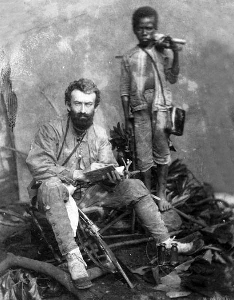 Une des très rares photos de Mikloukho Maklai lors d'un séjour chez les Papous.