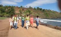 La délégation gouvernementale à Hiva Oa.