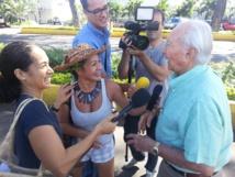Seuls Gaston Flosse et son avocat se sont présentés au tribunal de Papeete ce mardi matin.