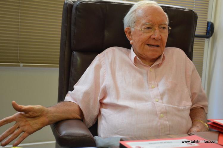 """Pour le 19e congrès du Tahoera'a, Gaston Flosse pense pouvoir réunir """"au moins le double"""" de militants qu'Edouard Fritch lors de son meeting du 19 septembre dernier."""