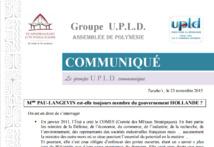 """UPLD : """"Mme Pau-Langevin est-elle toujours membre du gouvernement Hollande ?"""""""