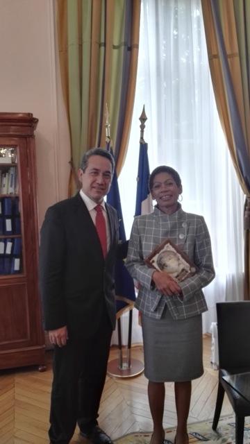 Marcel Tuihani reçu par le président du Sénat et la ministre des Outre-mer