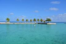 """Hao est comme tous les atolls polynésiens entouré d'un lagon aux magnifiques eaux turquoises, mais la pollution industrielle est invisible  avec des PCB dans les eaux  lagonnaires, du PCB encore et des métaux lourds dans """"le gazon algal""""."""