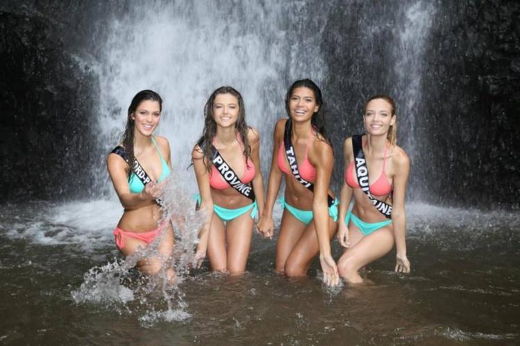 Pour leur quatrième jour au fenua, les candidates ont découvert la forêt et les cascades de Tahiti.  crédit photo : Facebook Vaimiti Teiefitu