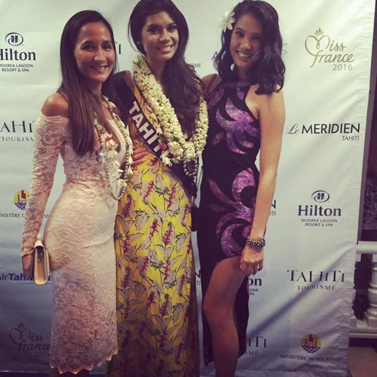 Mardi, les candidates au titre de Miss France 2016 étaient conviées à une soirée glamour dans un restaurant de la côte Ouest. On pouvait y croiser la ravissante Mehiata Riaria, miss Tahiti 2013.