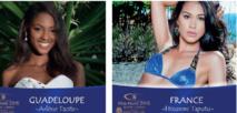 Arlène Tacite, Miss Guadeloupe International 2015 et Hinarere Taputu, 1ere dauphine de Miss France 2015 sont toutes les deux en compétition pour le titre de Miss Monde 2015.