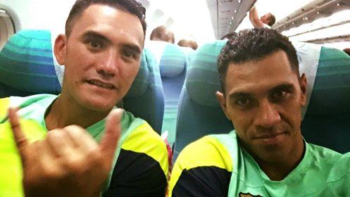 Les deux champions sont soutenus par Air Tahiti Nui