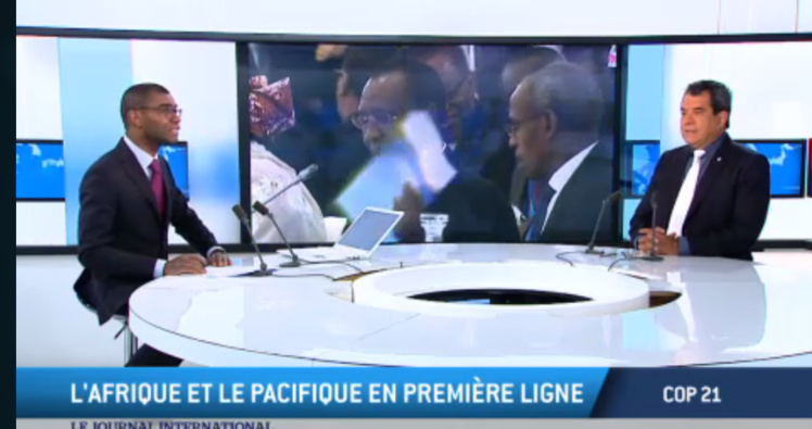 COP 21- Edouard Fritch invité du Journal International sur TV5