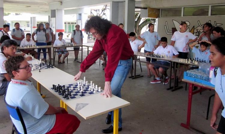A Mahina, parties simultanées pour la reprise du Club d'échecs