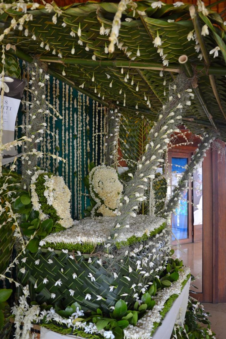 La décoration de Tahiti Tourisme, qui ferme de podium des Petites surfaces