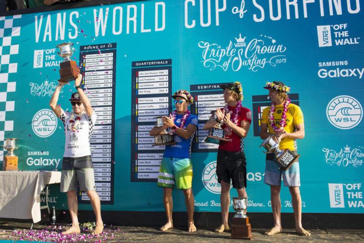 Il y a de nombreuses compétitons WQS très bien cotées à Hawaii, comme la Vans World CUp remportée dernièrement par Mick Fanning