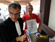 René Hoffer et son avocat, Me Raoul Aureille.