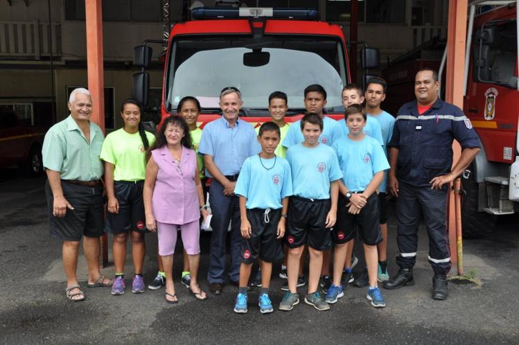 Punaauia : Les jeunes sapeurs-pompiers ont reçu 300 000 francs