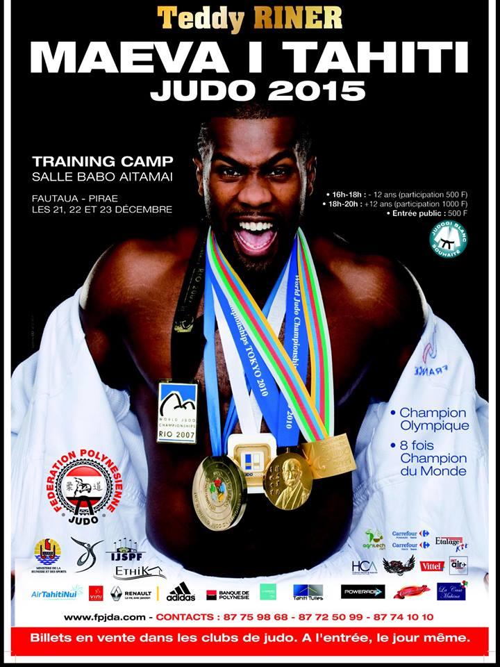 Huit fois champion du monde de judo, Teddy Riner à Tahiti