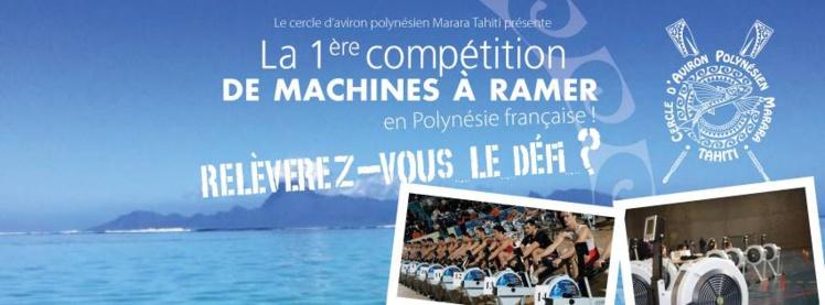 Première compétition de machines à ramer à l'aéroport de Tahiti-Faa'a