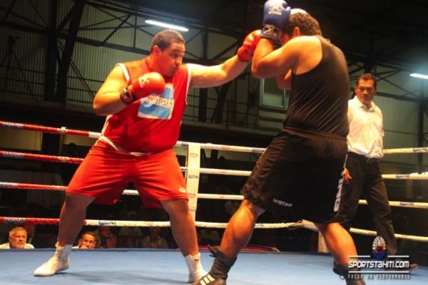 Le boxeur de Bora Amoroa Atiu a dû s'incliner face à Teiki Marotau