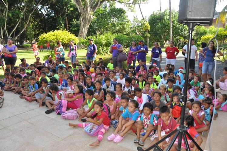 Près de 400 enfants issus de milieux modestes de Tahiti ont été sélectionnés pour participer à cette journée récréative
