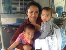 """Heiau et ses deux enfants : """"Je préfère quitter la maison, j'ai trop peur que ma maison soit encore inondée"""""""