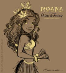 Fanart of the already-popular Polynesian princess (by Nicola Sammarco)