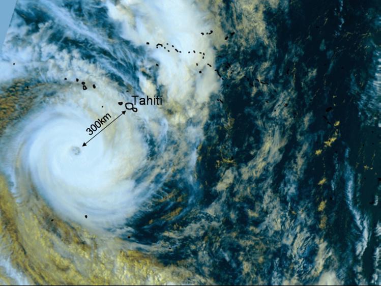 Cyclone Oli, crédit : Météo France
