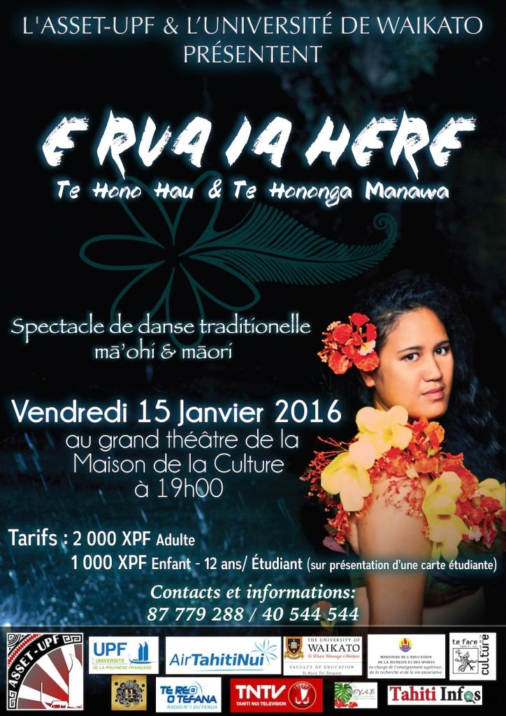 """E rua ia here"" : un spectacle traditionnel qui rassemble les étudiants ma'ohi et maori"
