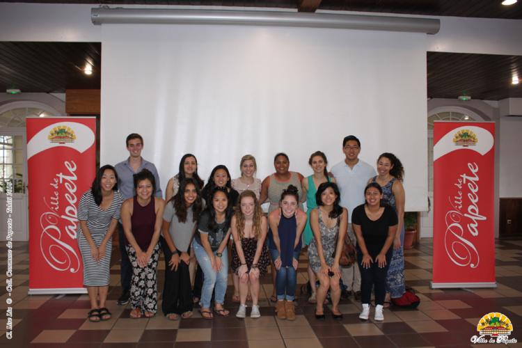 Des étudiants de l'Université de Californie du Sud accueillis à la mairie
