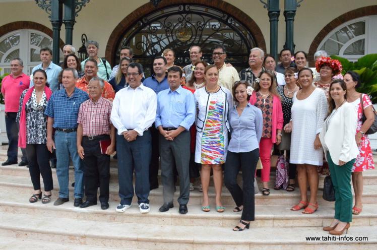 Le 10 décembre dernier lors de l'annonce de la création prochaine du groupe Rassemblement pour une majorité autonomiste.