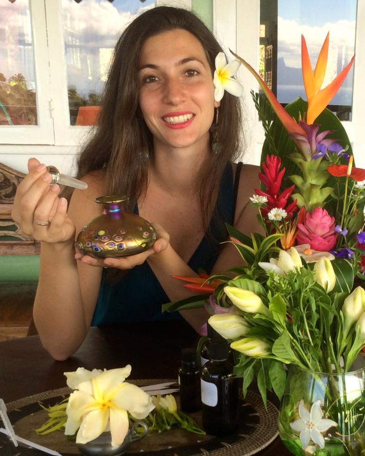 Lovaina Guirao, devenue maître parfumeur, est de retour au fenua
