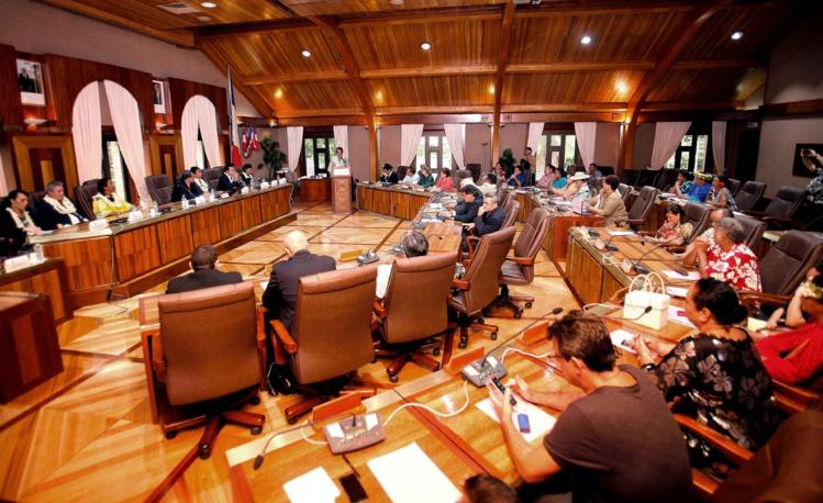 CESC : Edouard Fritch appelle au rassemblement à l'aube d'une année de réformes